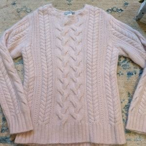 J Crew angora/wool blush pink sweater 🌸